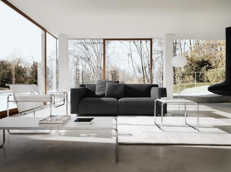 muebles de salón blanco sofa sillones ideas