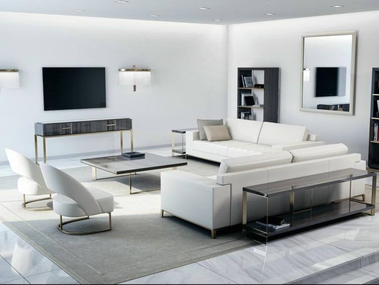 Muebles de salón blanco y negro 50 ideas atrevidas