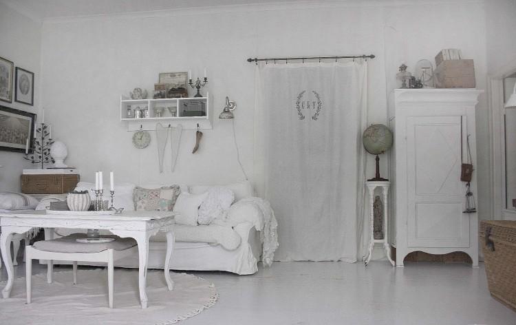 Muebles de sal n estilo shabby chic y vintage muy bonitos for Cortinas vintage salon
