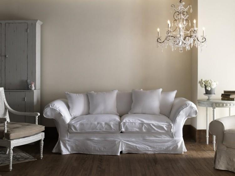muebles de salón estilo shabbi chic vintage lamapar cristal ideas