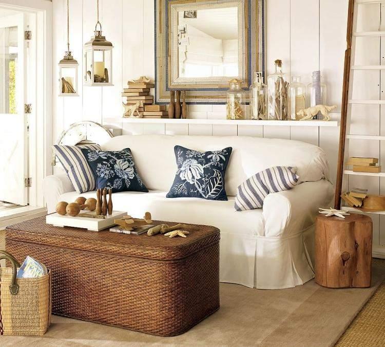muebles de salón estilo shabbi chic vintage mesa preciosa ideas