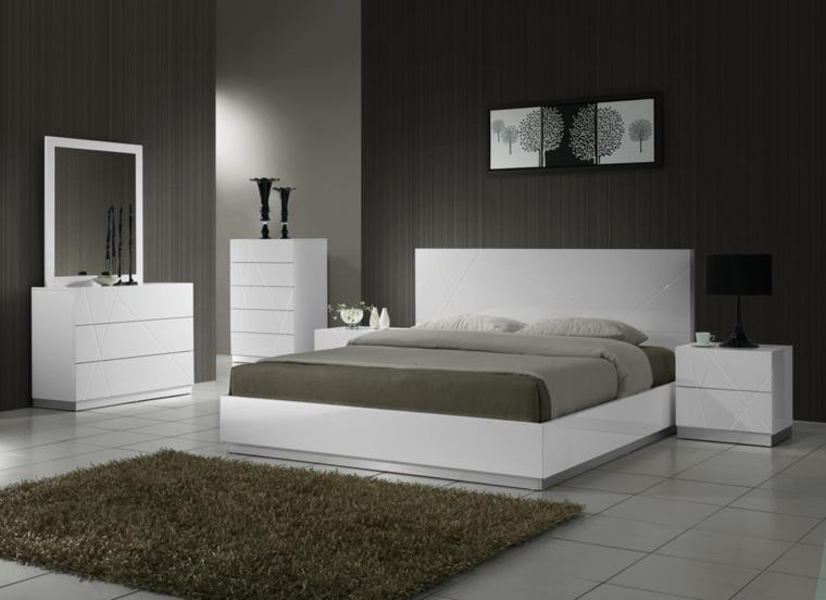 Muebles dormitorio de estilo moderno 25 ideas for Muebles de dormitorio blancos