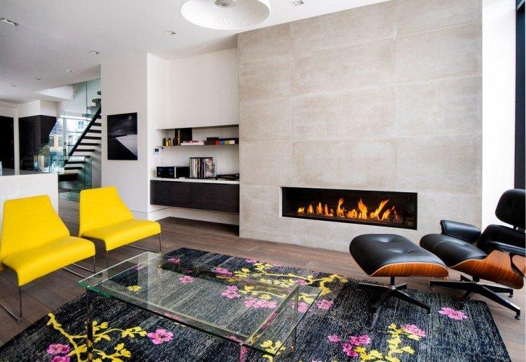 muebles estilo ideas salida chimenea cuero