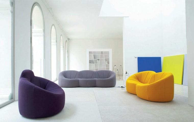 muebles sal´çon minimalistas modernos colores