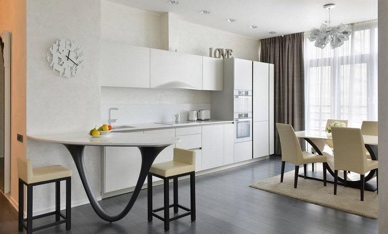 muebles-modernos-color-blanco-cocina-comedor