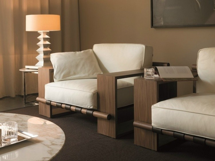 Sillones de madera para sala for Muebles contemporaneos