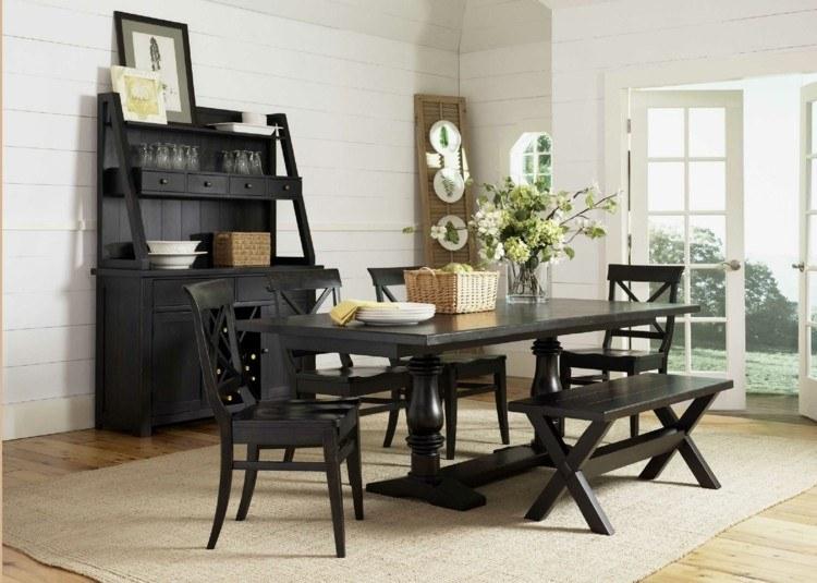 muebles diseño oscuros estilo retro