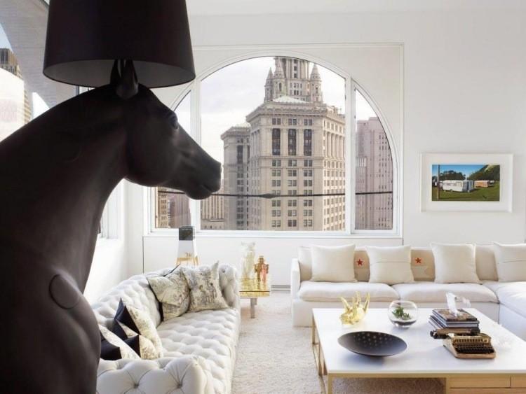 muebles salon blanco accesorios modernos ideas
