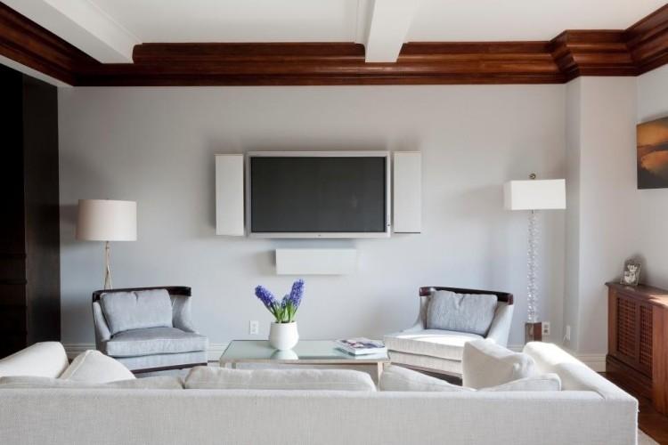 muebles salon blanco televisor ideas
