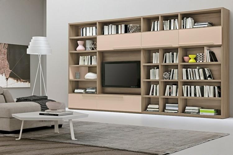 Estanterias modulares para salones modernos - 38 ideas