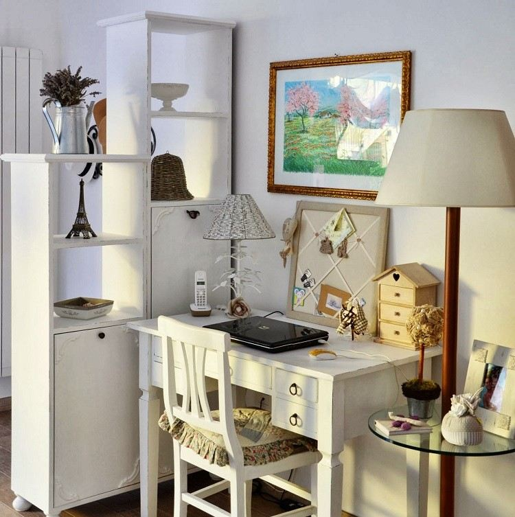muebles salon estilo shabbi chic vintage escritorio ideas