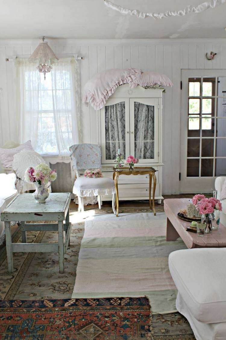 Muebles De Sal N Estilo Shabby Chic Y Vintage Muy Bonitos  # Muebles Efecto Vintage