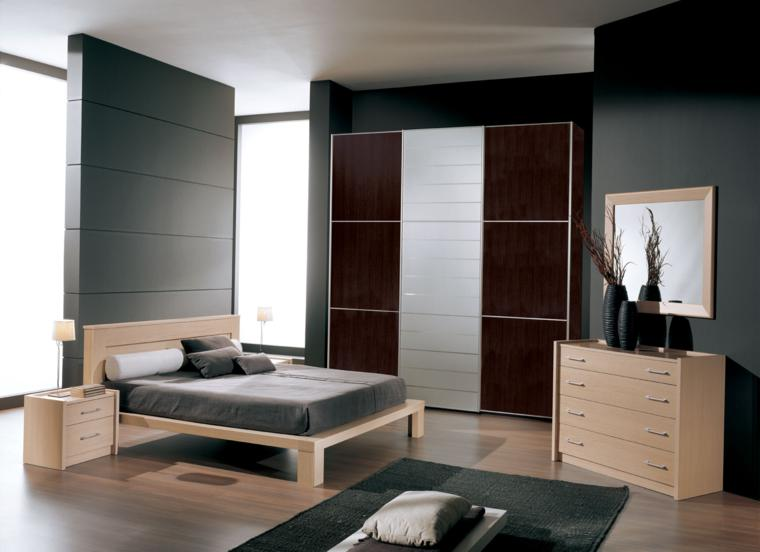 muebles dormitorio madera color beoge