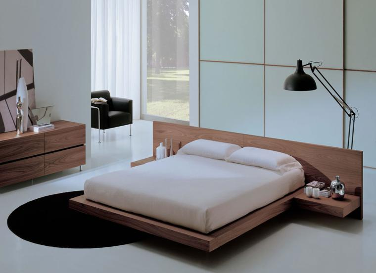 conjunto muebles madera color beige