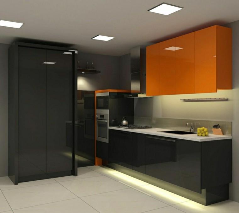 naranja negro contraste interesante moderno