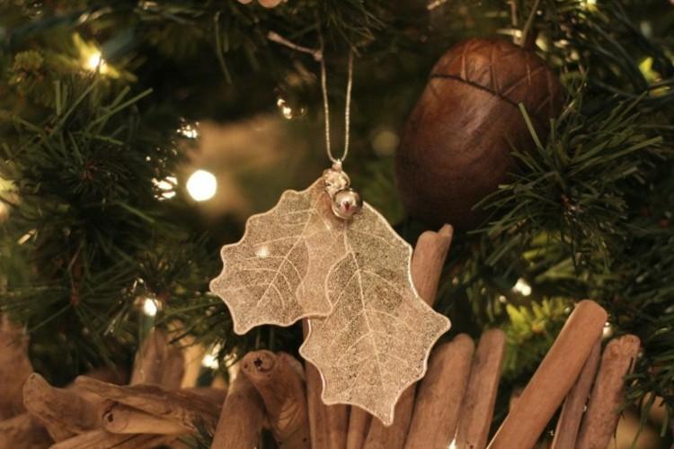 navidad creatividad plantas ideas canela nueces