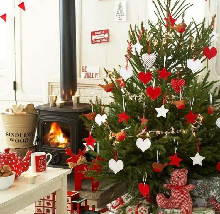 navidad creatividad plantas ideas carteles fuego