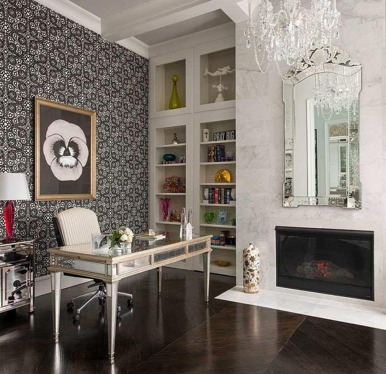 Oficinas estilo mediterráneo en la casa moderna -