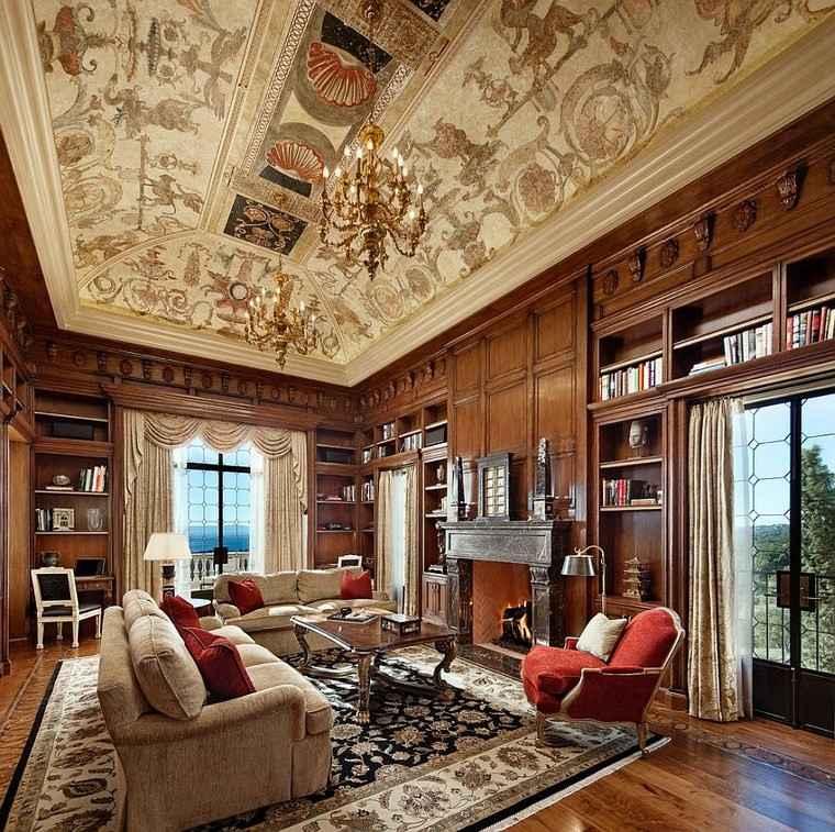 Oficinas estilo mediterr neo en la casa moderna for Estilo clasico contemporaneo