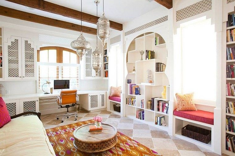 oficina estilo mediterraneo casa moderna lamparas ideas