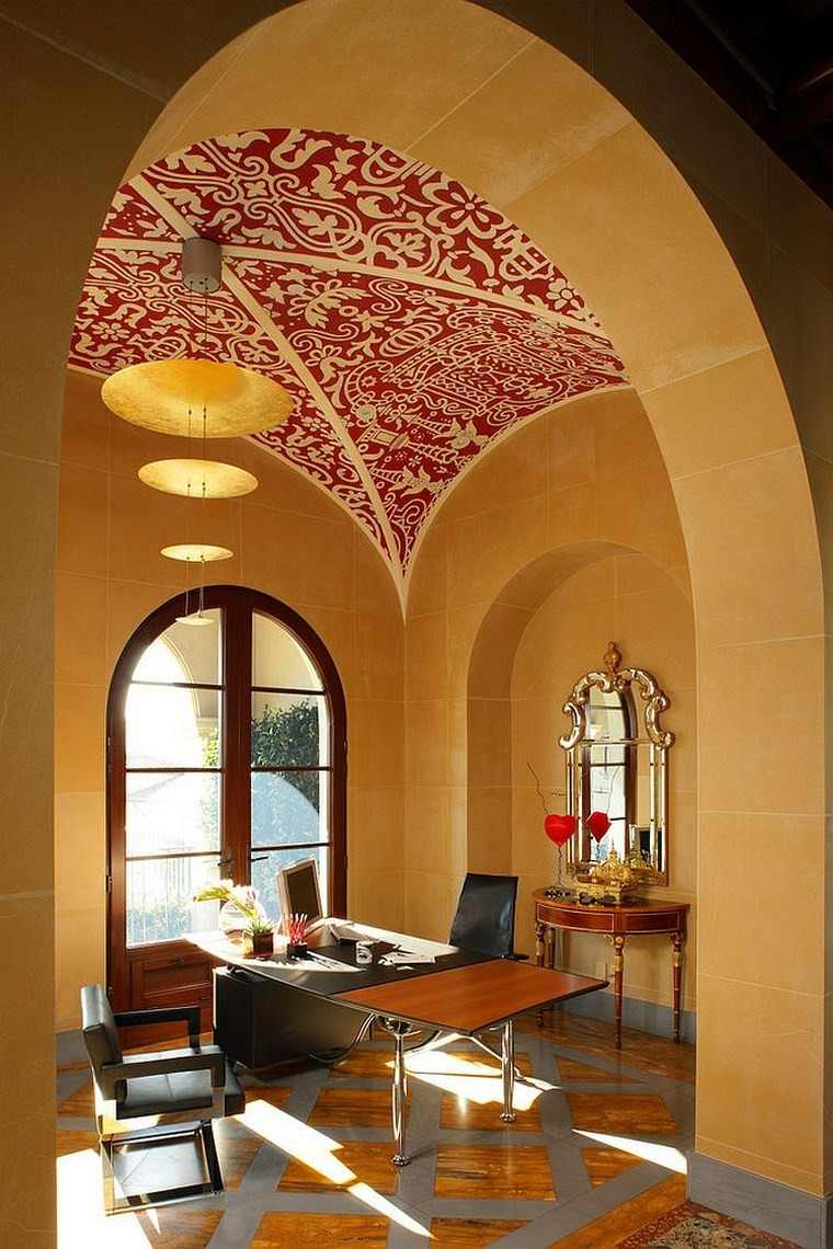 oficina estilo mediterraneo casa moderna papel aroz ideas