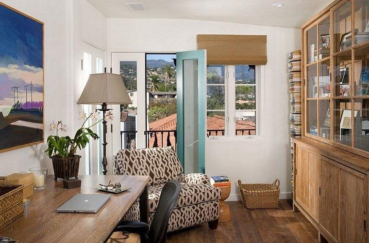 oficina estilo mediterraneo casa moderna pequeño ideas