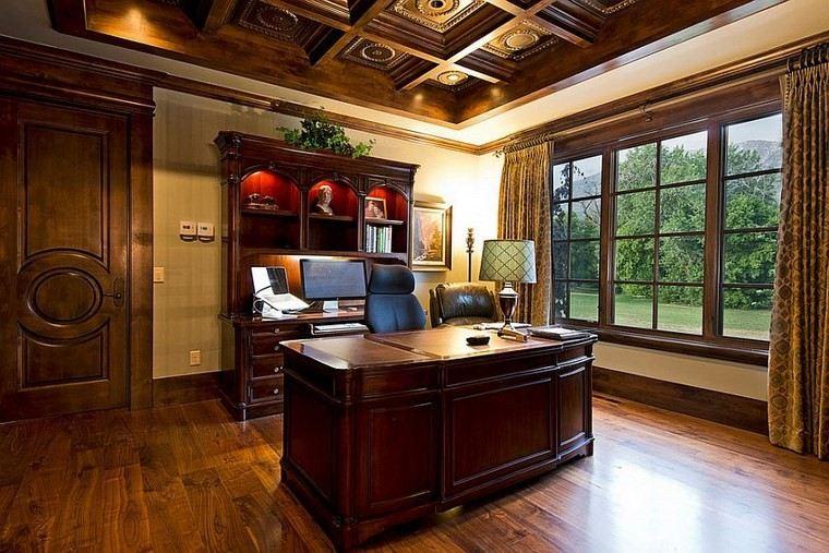 oficina estilo mediterraneo casa moderna ventana grande ideas