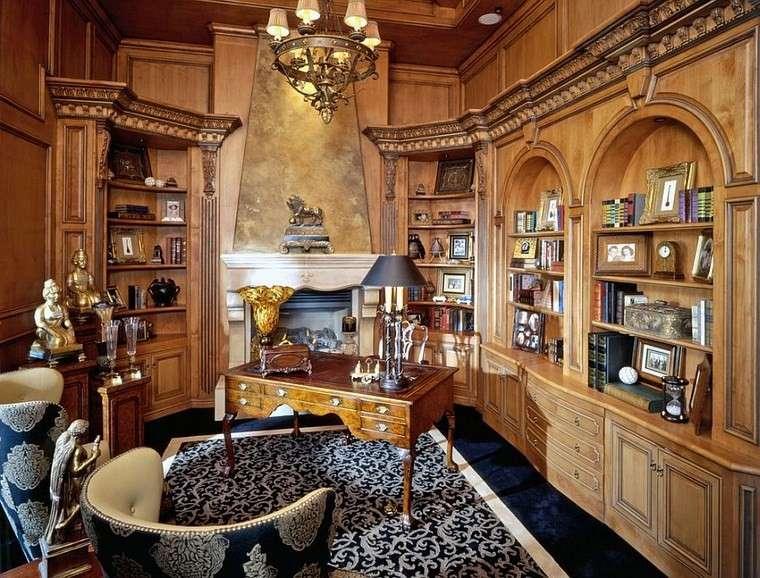 Oficinas estilo mediterr neo en la casa moderna for Casa clasica moderna interiores
