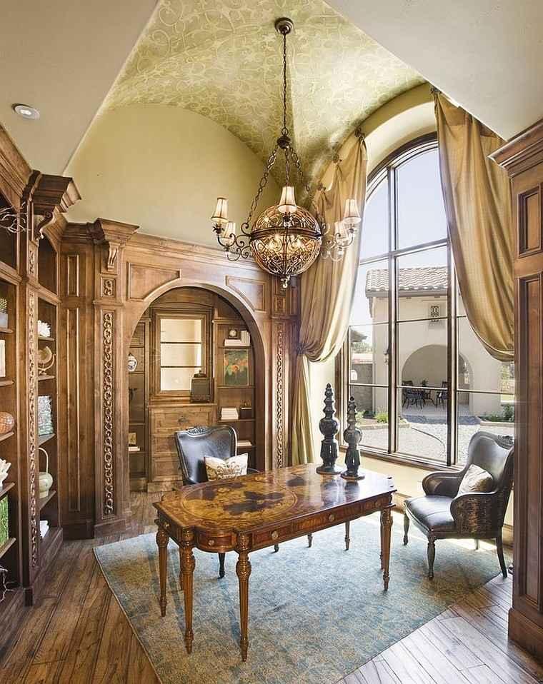oficinas estilo mediterraneo casa moderna lampara preciosa ideas