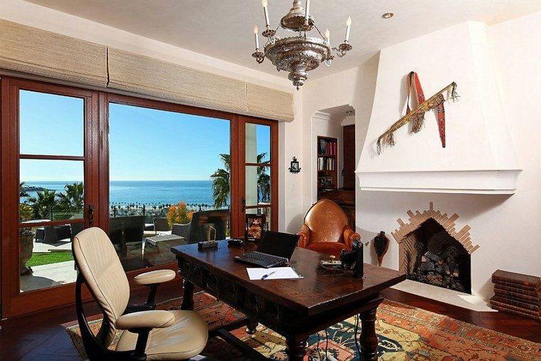 oficinas estilo mediterraneo casa moderna toques costeros ideas