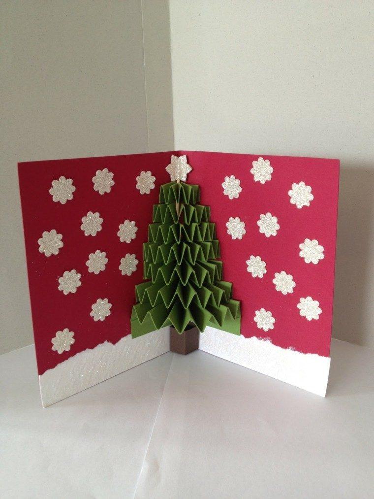 Tarjetas de navidad con dise os personalizados originales - Arbol de navidad origami ...