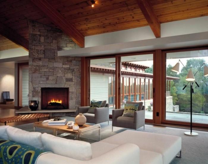 original diseño sala de estar rustico