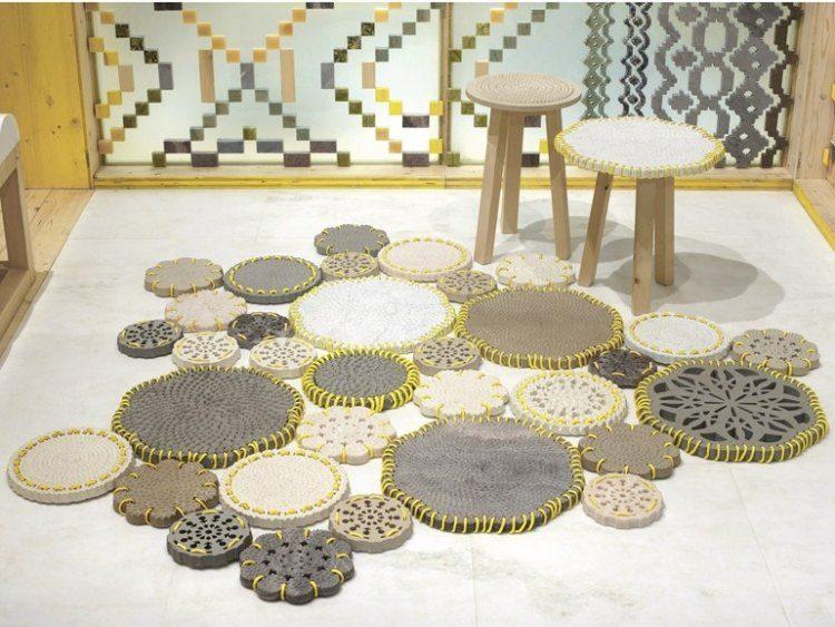 original diseño tapices acolchados crochet