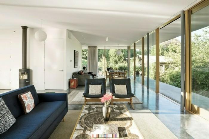 original diseño sala de estar chimenea