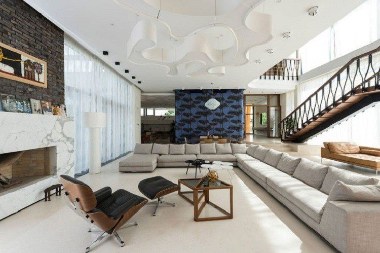original diseño salon moderno paredes