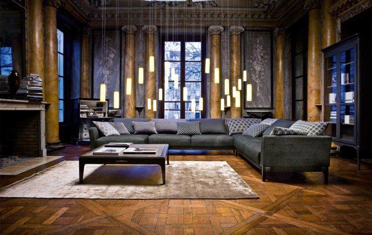 original diseño salón suelo madera