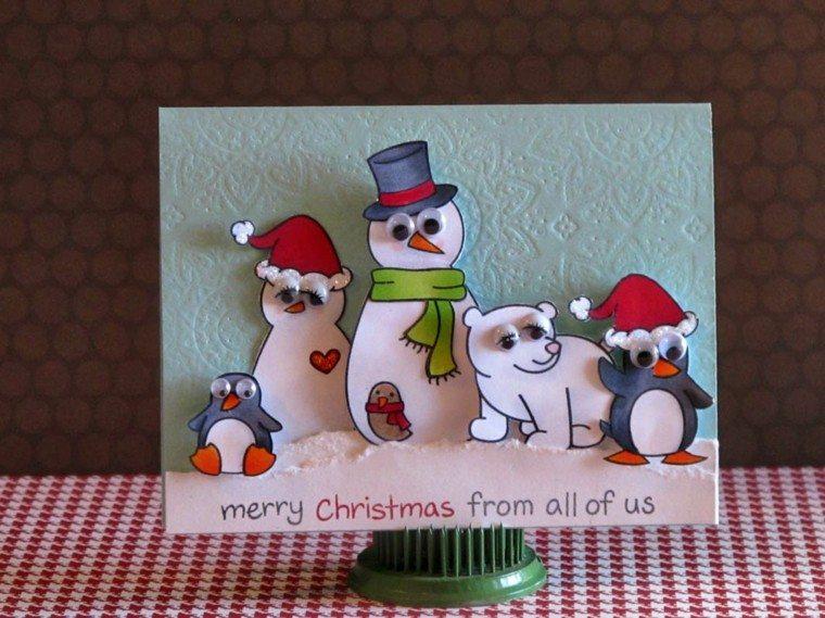 Tarjetas de navidad con dise os personalizados originales - Tarjetas de navidad hechas por ninos ...