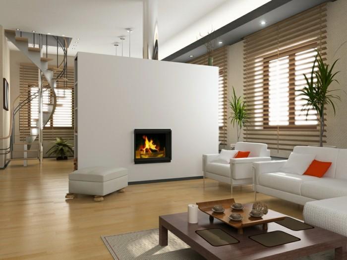 salas de estar con chimeneas modernas