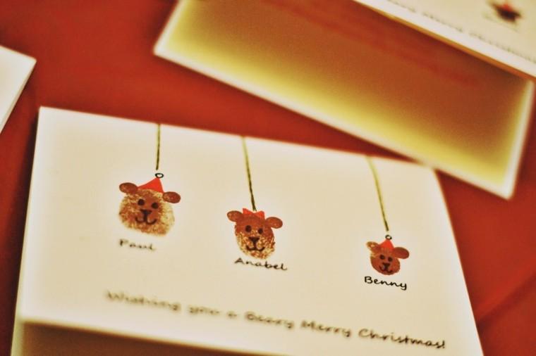 original tarjeta bolas cabezas osos