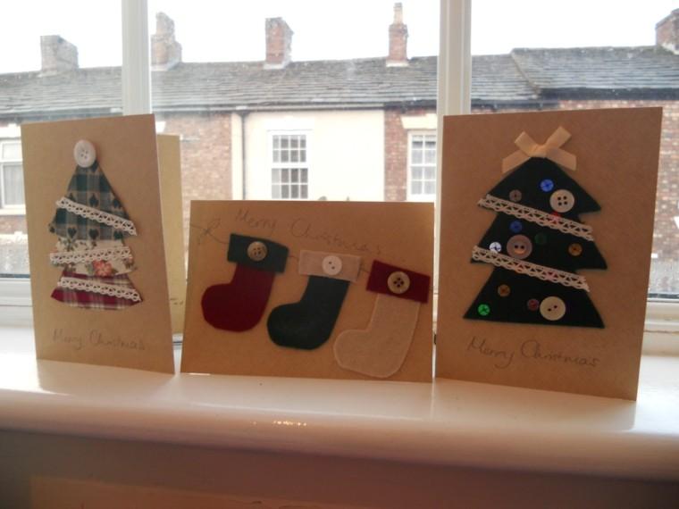 originales tarjetas navideñas diseño casero