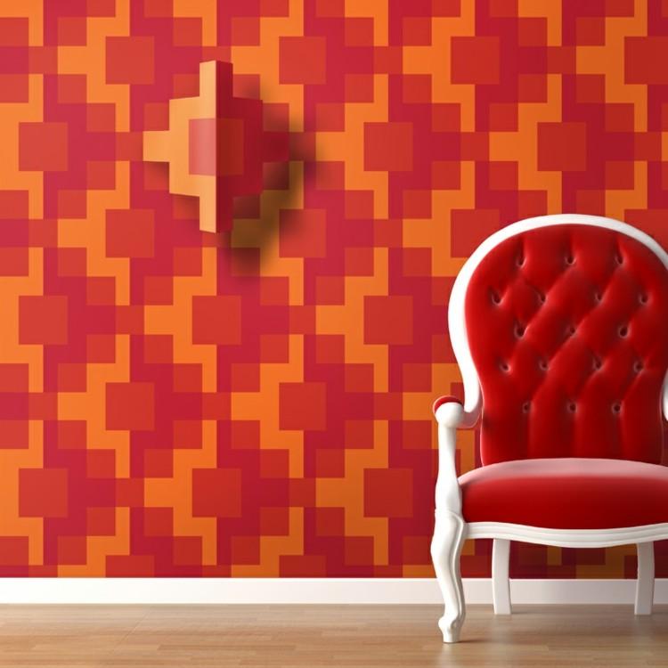 papel para paredes idea modrna amarillo silla