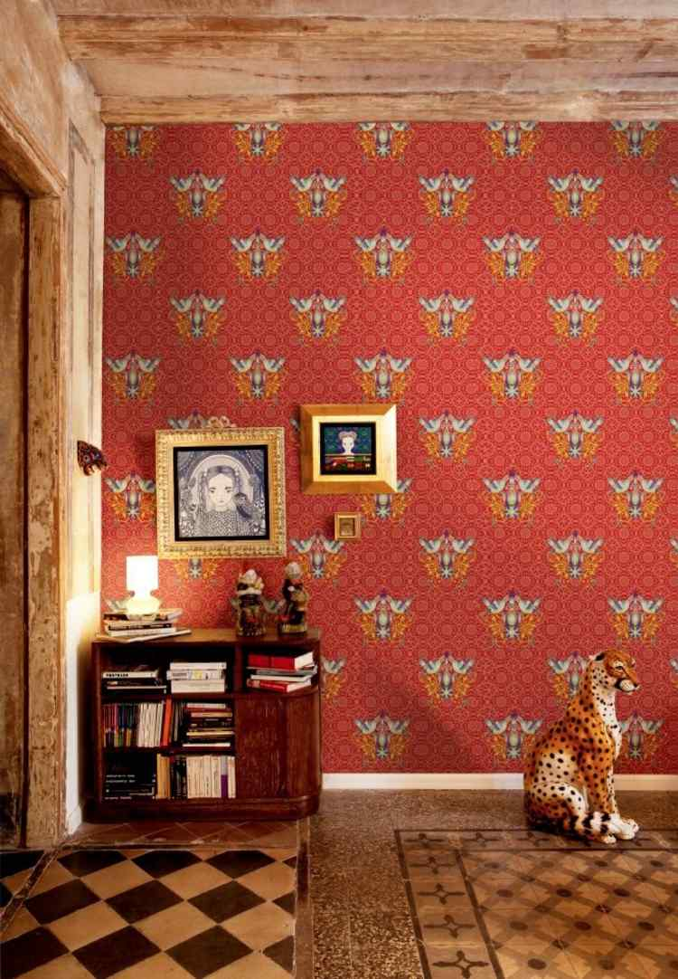 papel para paredes idea modrna animales cuadros