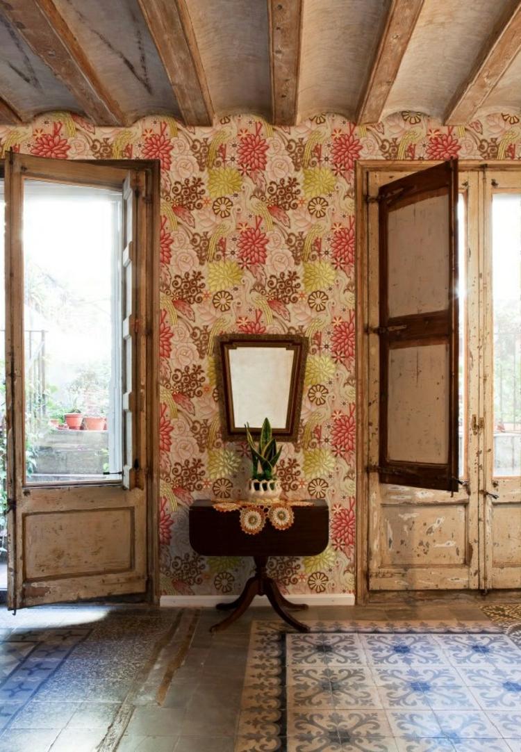 papel para paredes idea modrna ventanas suelo