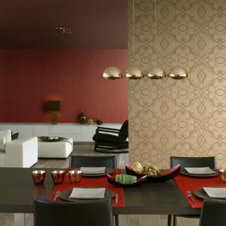 papel para paredes idea modrna dorado