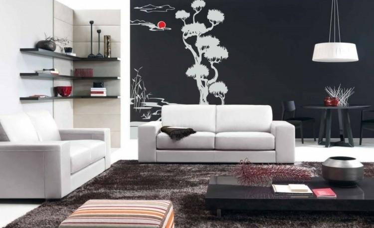papel pared diseño estilo zen