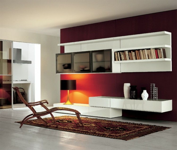 Elegant Indian Sofa Designs For Small Drawing Room In Home: Estanterias Modulares Para Salones Modernos