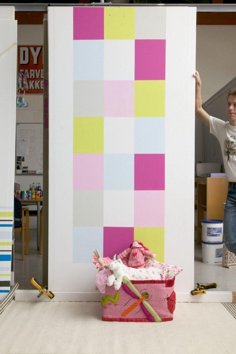 pared moderna cuadrados colores