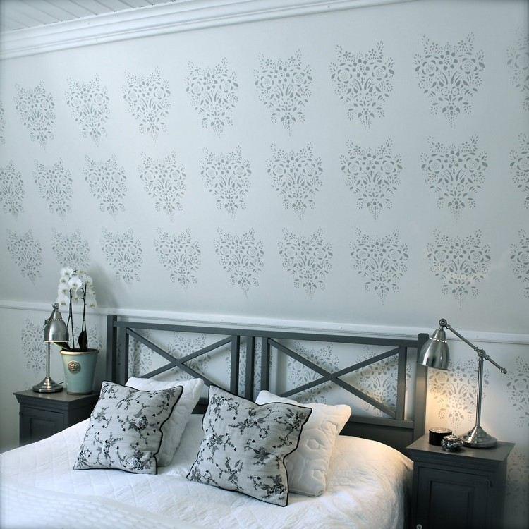 pared habitación motivos clásicos