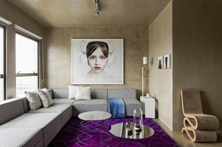paredes cemento beige estilo moderno
