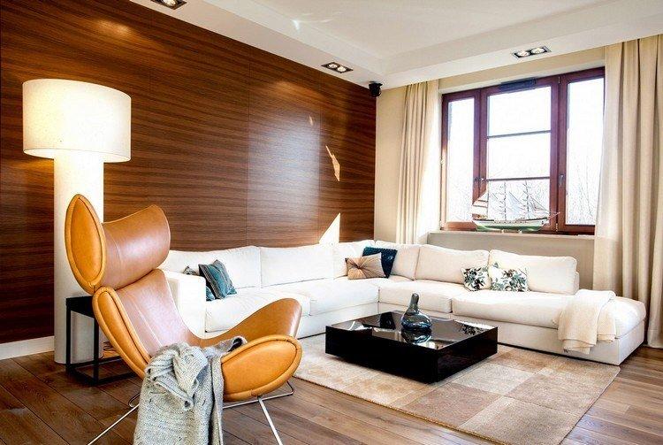 paredes diseño mueble decorado cuero lamparas